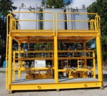 The chemical injection skid fabricated by AGI Packaged Pump Systems