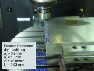 The research team selected a dry-finishing process – edge milling – as the machining task for developing the tools.