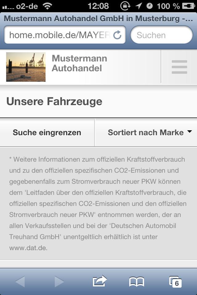 Bilder Mobilede Relauncht Händler Homepage Im Responsive Design