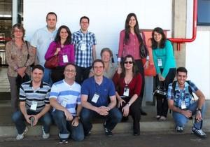 Ein Teil der Projektgruppe während ihres Besuchs im Brazilian Bioethanol Science and Technology Laboratory.