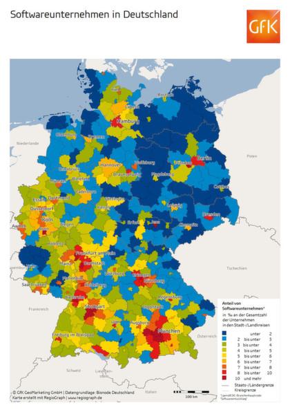 Erlangen Karte Deutschland.Wo Sich Software Firmen Heimisch Fuhlen
