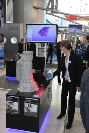 One example of a Creaform handheld 3D scanner at the Control show in Stuttgart, Germany.