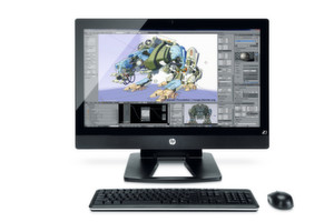 Da lacht das Grafiker-Herz: HP Z1 mit Thunderbolt-Option.