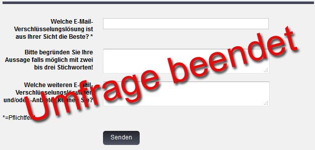 Leserumfrage E-Mail Verschlüsselung ist beendet