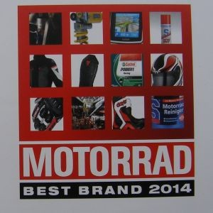 "Motorrad ""Best Brand 2014"": The rest of the best der Zubehörindustrie"