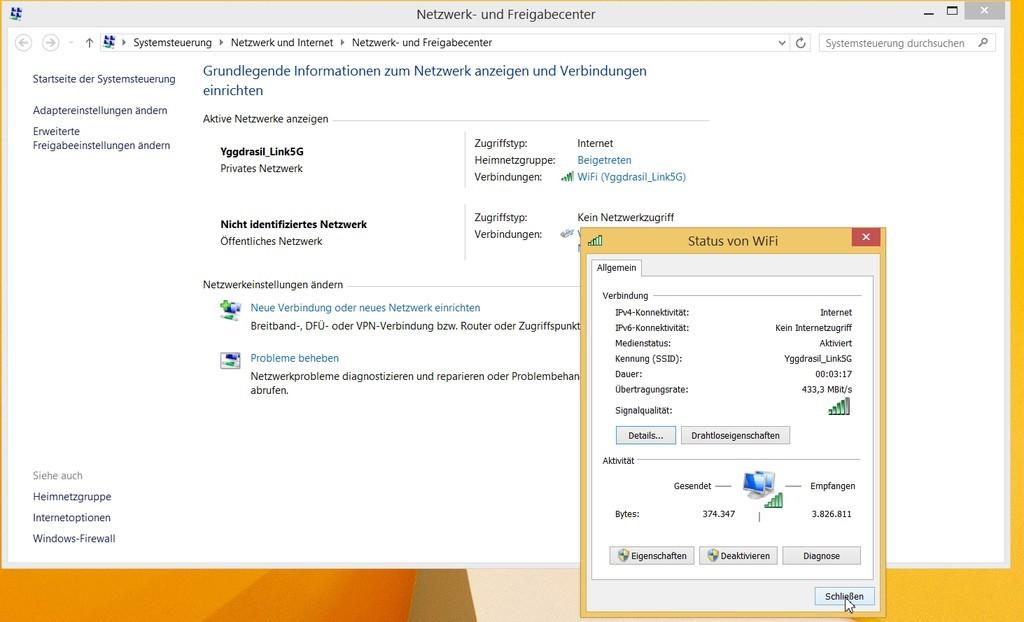 Abbildung 10: Nach dem Update des Intel-Treiber: Eine WLAN