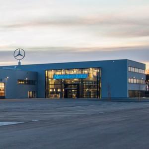 neues mercedes nutzfahrzeugzentrum in mannheim. Black Bedroom Furniture Sets. Home Design Ideas