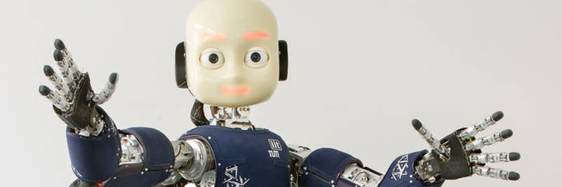 Der androide Roboter iCub.
