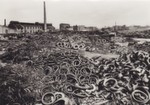 Used tires and used rubber on the business premises around 1955