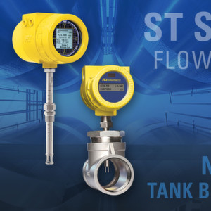 The ST100 Series Flow Meter is ideal for mass flow measurement of nitrogen gas in tank blanketing processes.