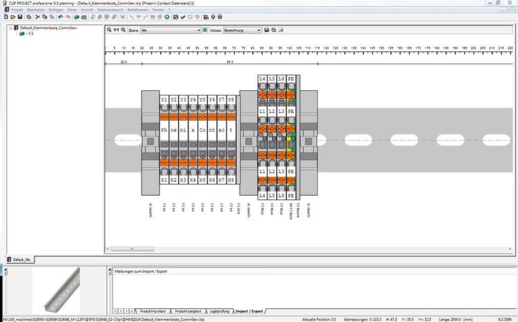 Basis der in Eplan generierten Schaltpläne schlägt die Software Clip ...