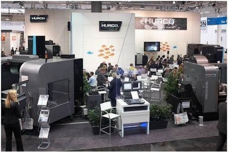 A future addition to Hurco trade fair exhibits could be a hybrid machine tool for additive manufacturing and milling.