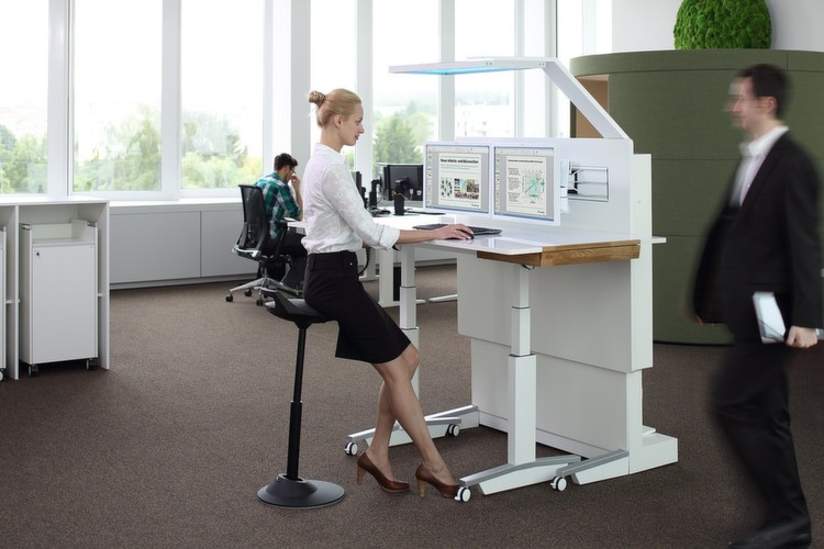 Bilder Fraunhofer Testet Den Flexiblen Arbeitsplatz Fur Das Buro