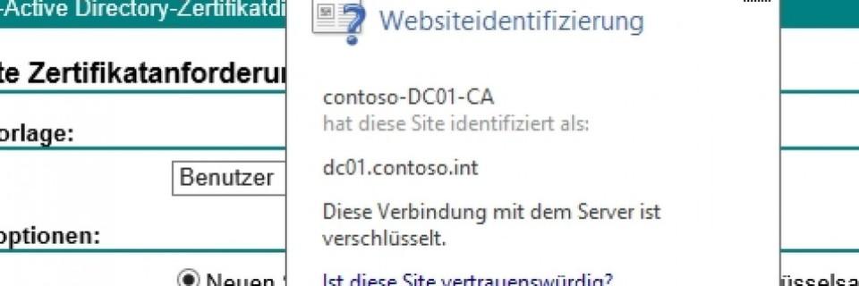 SSL für Zertifikatdienste einrichten und Zertifikate nutzen