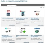 Mouser-Tool-Center: Analoge & digitale IC-Entwicklungstools » Audio-IC-Entwicklungswerkzeuge