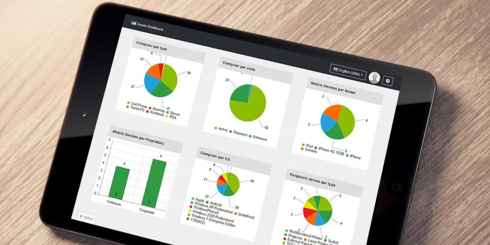 Matrix42 Corporate Workspace Management bietet grafisch aufbereitete und personalisiert konfigurierbare Dashboards.