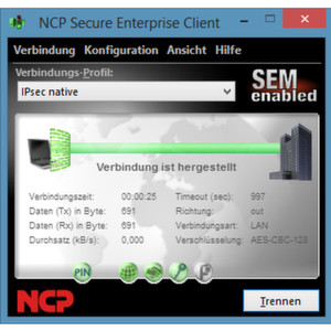 NCP bietet VPN-Clients für Windows, Android, OS X, Linux sowie Windows CE/Mobile an.