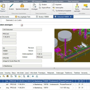 PDM-Software mit CAD-Integration für Autocad Plant 3D