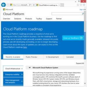 Microsoft stellt Cloud-Roadmap online