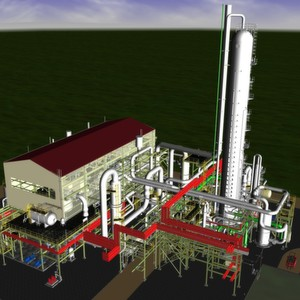 A graphic representation of the planned nitric acid plant