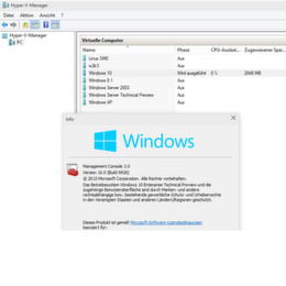 Virtualisierung mit Hyper-V vNext in Windows 10
