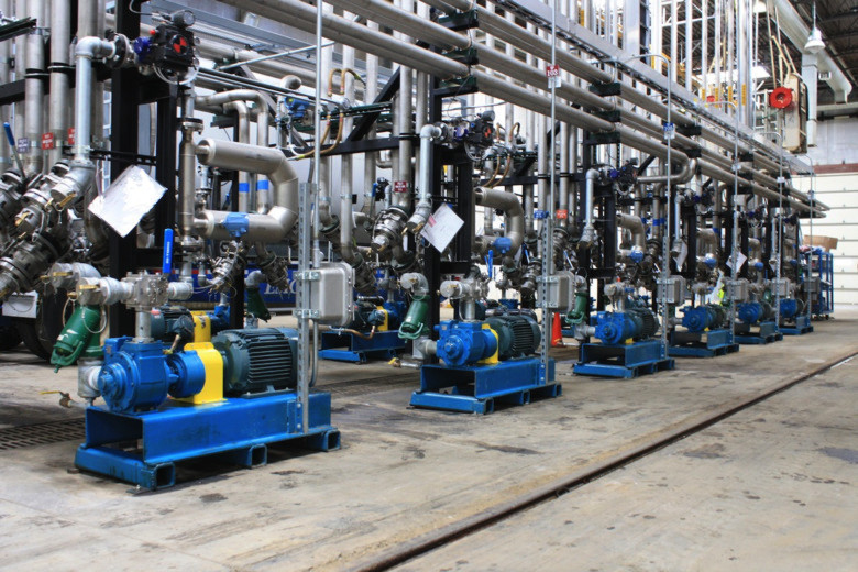 The EMCO Chemical Distributors facility located in Pleasant Prairie, Wisconsin/USA, reports excellent results using Blackmer sliding-vane pumps in systems that use Coriolis flowmeters for flow measurement.