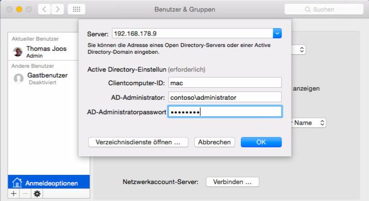 Sicherheit für Mac OS X in Windows-Umgebungen