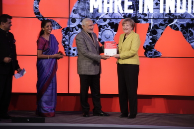 Merkel and Modi at Hannover Messe