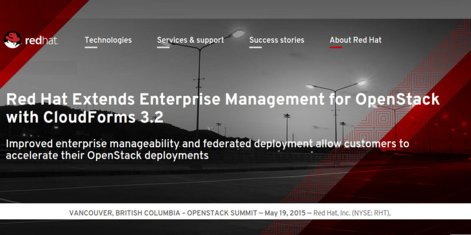 OpenStack Summit: Red Hat CloudForms 3.2 automatisiert OpenStack-Deployment
