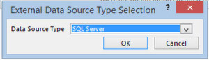 External Data Source Type Selection