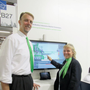 Rob Harper and Anne-Marie Walters demonstrate the newest touchscreen interface capabilities.