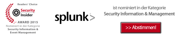 IT-Awards 2015: Splunk ist nominiert in der Kategorie Security Information & Management