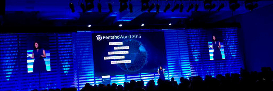 Auf der Pentaho World 2015 informierten sich über 550 Teilnehmer aus 27 Ländern über die neuesten Big Data Trends. Tragendes Thema war die Übernahme von Pentaho durch Hitachi Data Systems.