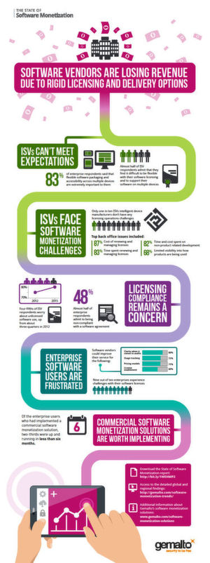 "Infografik zur Gemalto-Studie: ""State of Software Monetization Report"""
