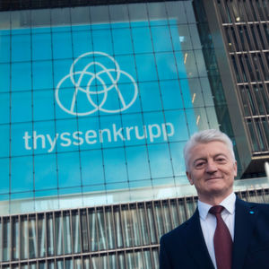 "Dr. Heinrich Hiesinger, CEO of Thyssenkrupp: ""Thyssenkrupp has changed in recent years. We are a different company today. We have become more diversified and as a result more stable."""