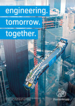 "The new slogan ""engineering. tomorrow. together."" condenses the brand promise."