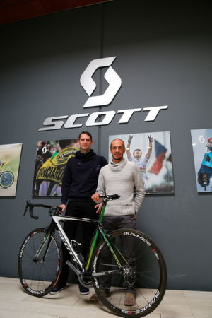 Paul Remy, Bike Engineer et Benoit Grelier, Head of Bike Engineering chez Scott Sports SA.