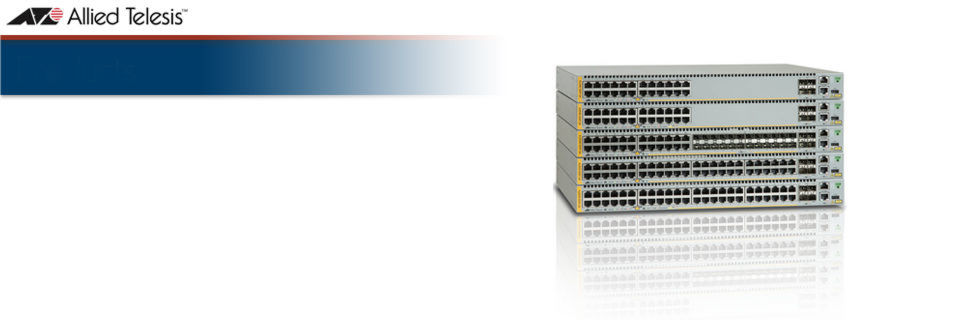 Ab sofort auch mit OpenFlow 1.3 verfügbar: Die Advanced Gigabit Layer 3 Stackable Switches der Allied Telesis x930 Series.
