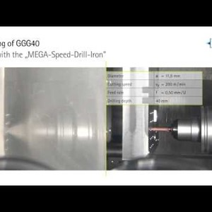 Drilling of GGG40 with the MEGA-Speed-Drill-Iron