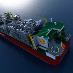 With a length of roughly 500 meters Shell's floating liquified natural gas facility FLNG will become the biggest ship in history. The FLNG will operate on a deep-sea offshore oilfild in the South Pacific.