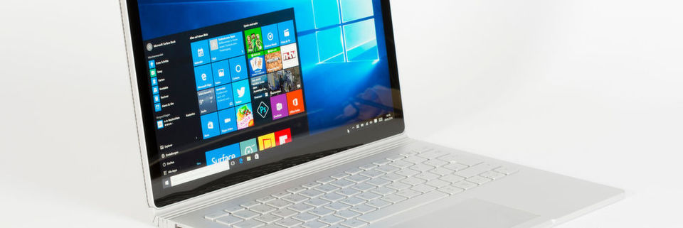 Windows 10 auf Surface Book