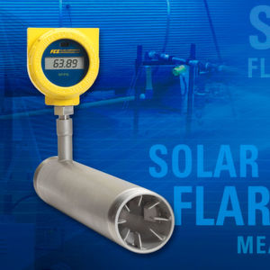 The ST75V Flow Meter is compatible with solar power systems that provide 24Vdc power without any special modifications. A typical solar power system supporting up to 28 meters in an oil/gas production field requires two 50-Watt solar panels to provide 24 hour power, even during cloudy, rainy or snowy winter days. The site engineers also recommended the additional installation of two large 12 Volt, 40 Amp hour backup batteries that are housed in a rugged 16 x 16 x 10 inch [406 x 406 x 254 mm] enclosure.