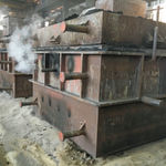 Smoke-emitting forms convince of high in-house production depth in the factory's in-house foundry of the family-owned YCM (Yeong Chin Machinery Industries).