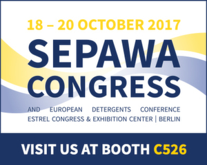 More performance for your detergents. Meet our experts at SEPAWA 2017!