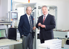 The founders of Wibu-Systems, Oliver Winzenried and Marcellus Buchheit