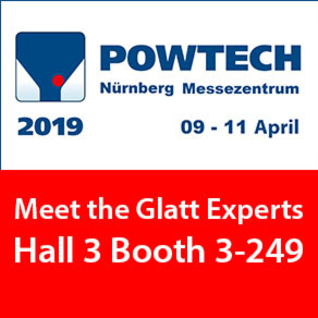 Meet the Glatt Experts @ Powtech 2019 Hall 3 / 3-249