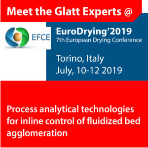 Meet the Glatt Experts @ EuroDrying' 2019
