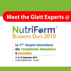 Meet the Glatt Experts @ NutriForm Business Days 2019