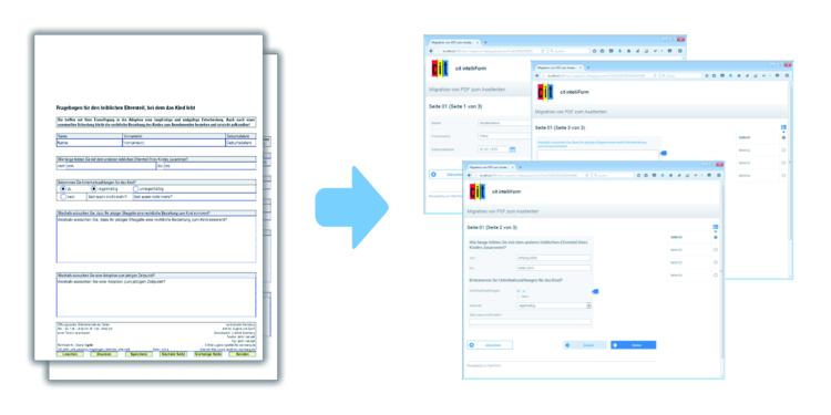 Umwandlung von PDF in Formularassistenten